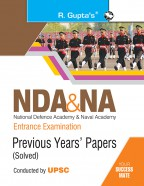NDA & NA Entrance Examination: Previous Years Papers (Solved) (Big Size)