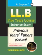 LL.B Five Years Course Entrance Exam Previous Years' Papers [Solved]