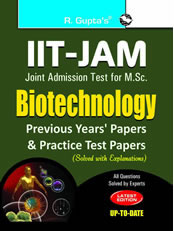 IIT-JAM: M.Sc. (Biotechnology) Previous Papers (Solved)