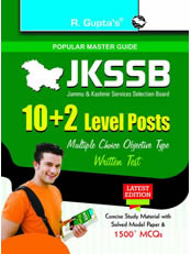 J&K Services Selection Board: 10+2 Level Posts: Written Test Guide