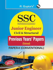 SSC : Junior Engineer Exam Civil & Structural (Paper-II : Conventional) : Previous Years' Papers (Solved)