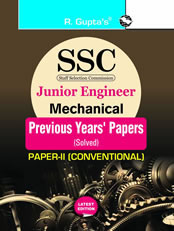 SSC : Junior Engineer Exam Mechanical (Paper-II : Conventional) : Previous Years' Papers (Solved)