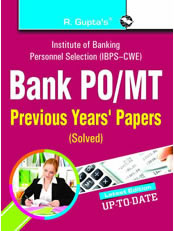 Bank PO/MT Exam Previous Years' Papers (Solved)