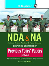 NDA & NA Entrance Examination: Previous Solved Papers (Solved)
