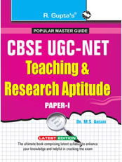 CBSE UGC-NET/SET (Paper-I) JRF and Assistant Professor Exam Guide