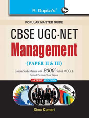CBSE UGC-NET/SET Management (Paper II & III) JRF and Assistant Professor Exam Guide