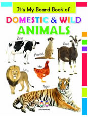 It's My Big Board Book of DOMESTIC & WILD ANIMALS