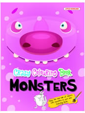 Crazy Colouring Book: Monsters