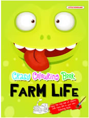 Crazy Colouring Book-Farm Life